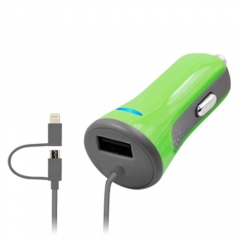 4.8A Car Charger with 2 in 1 cable