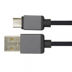 Braided Fabric Micro USB Cable with Aluminium Housing