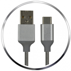 Metallic Braided USB-A 2.0 to USB-C Charge & Sync Cable