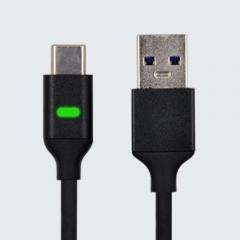USB C Data Sync Charge Cable with Pulsing LED