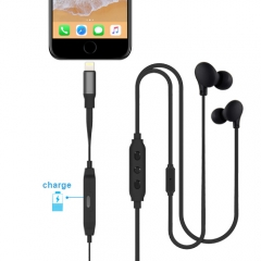 MFi Lightning Earphones with Lightning and Charging Port